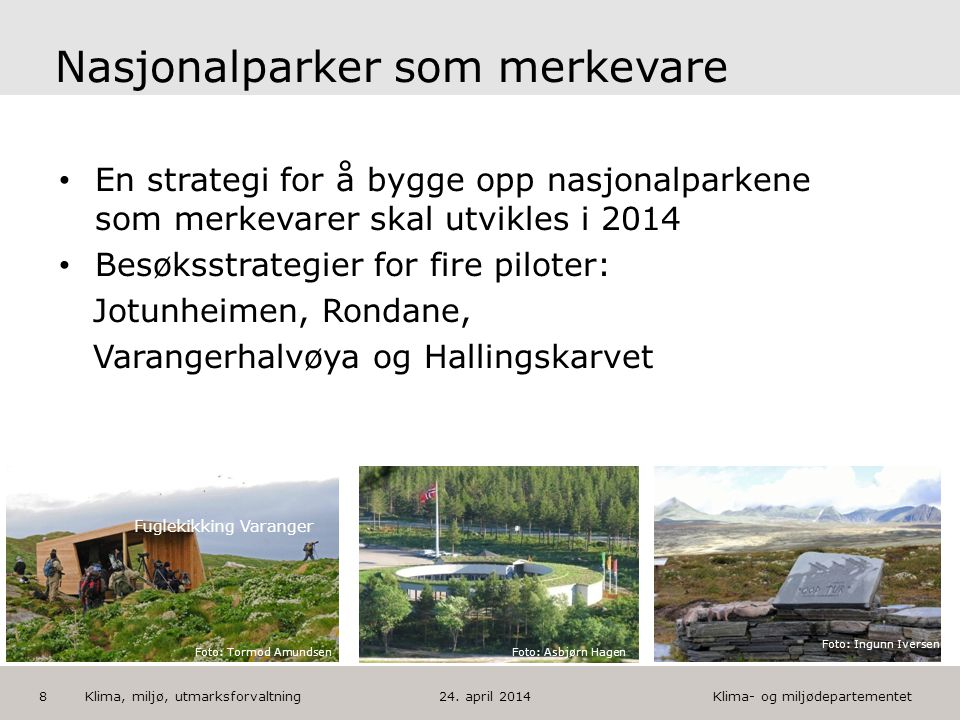 Nasjonalparker som merkevare