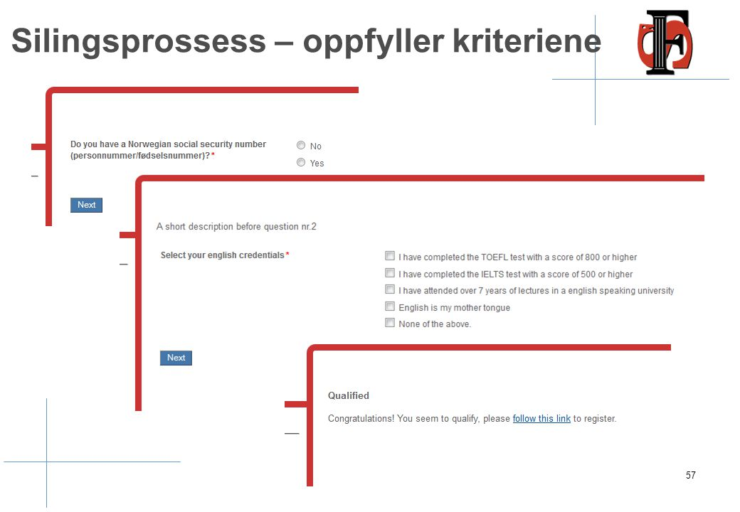 Søkere uten norsk fnr kan registrere seg med epostadresse
