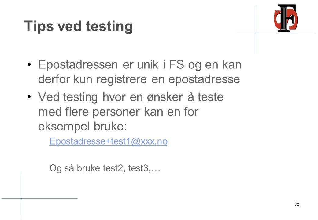 Kvitteringseposter til søkere uten norsk fnr