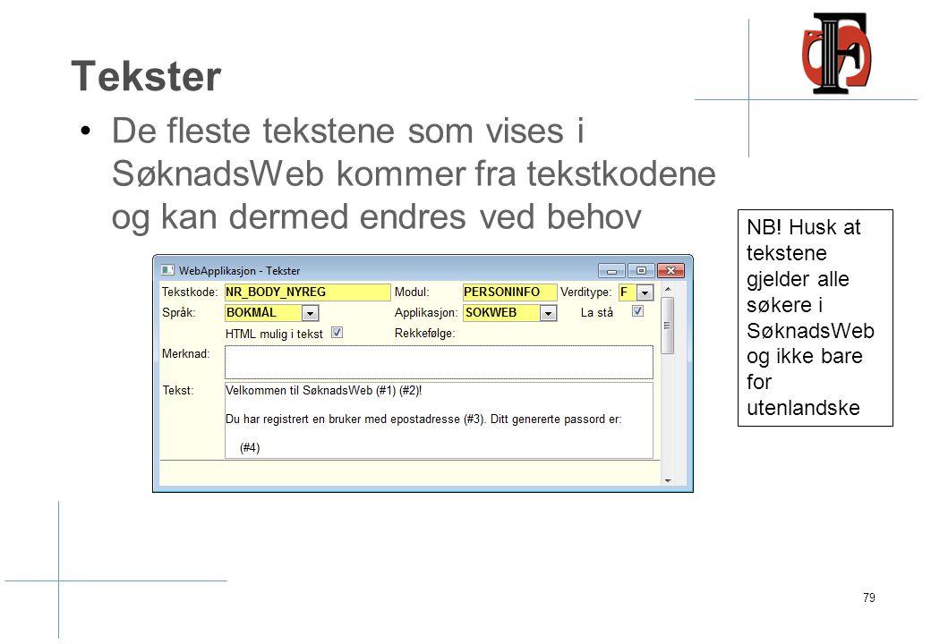 Dokumenttype Dokumenttyper – kan styre hvilke grupper som skal vises