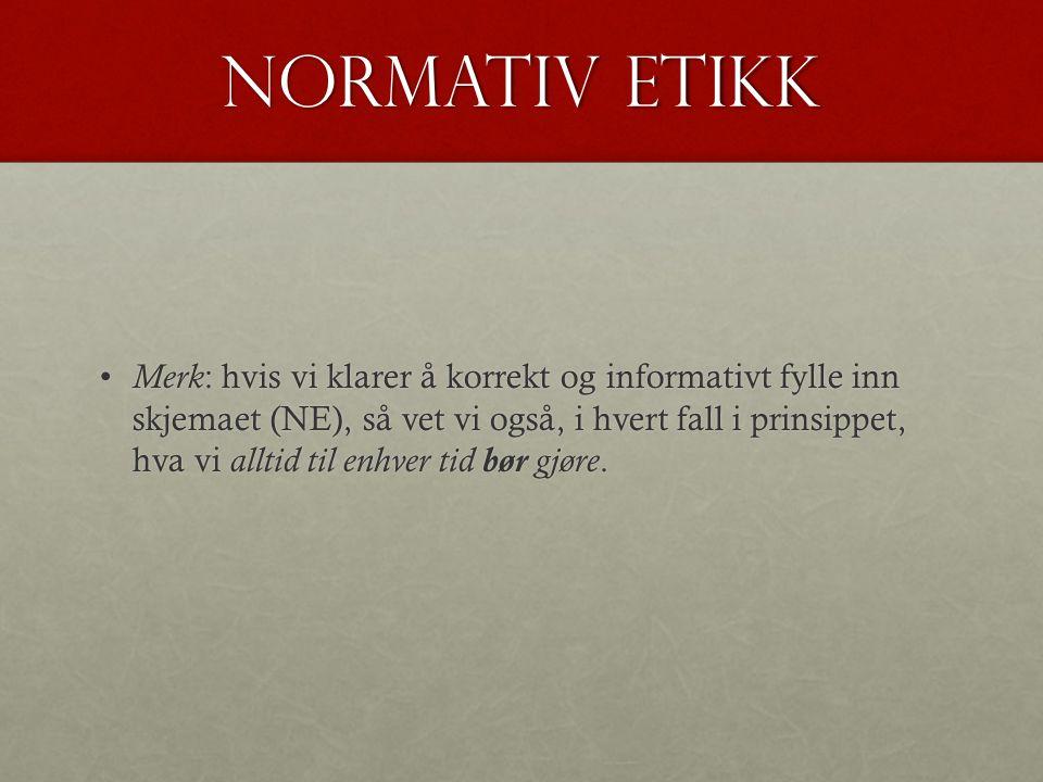 Normativ etikk
