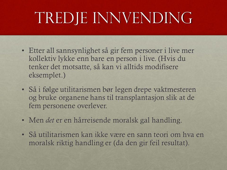 Tredje innvending