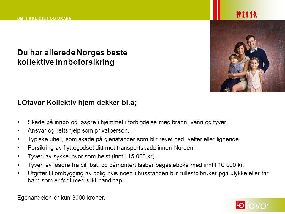 Du har allerede Norges beste kollektive innboforsikring