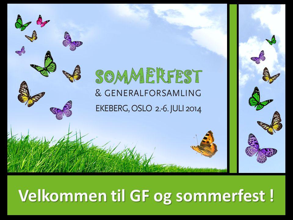 Velkommen til GF og sommerfest !