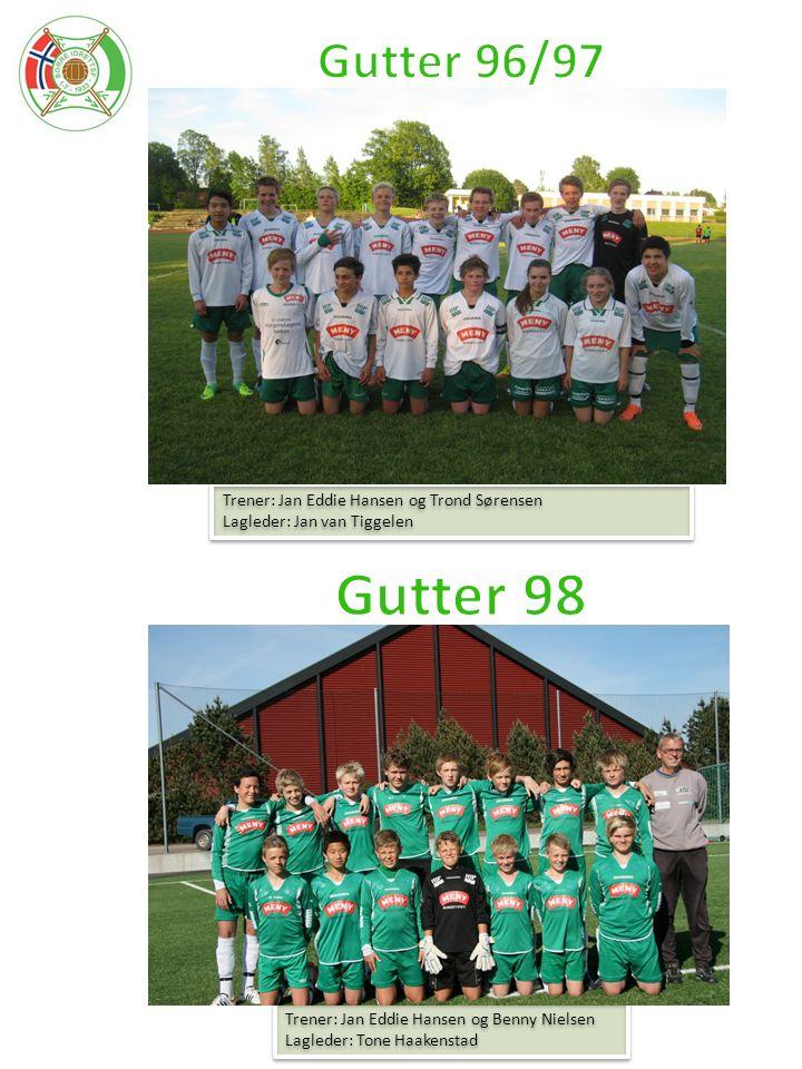 Gutter 98 Gutter 96/97 Trener: Jan Eddie Hansen og Trond Sørensen