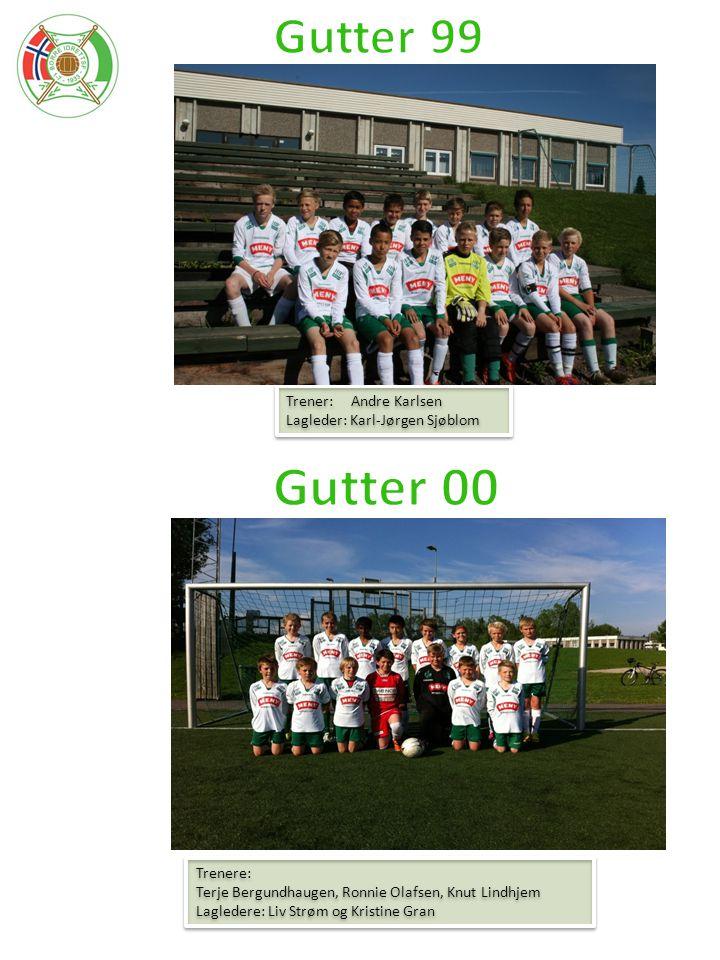 Gutter 00 Gutter 99 Trener: Andre Karlsen