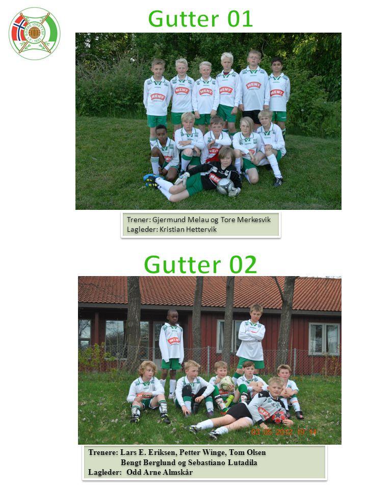 Gutter 02 Gutter 01 Trener: Gjermund Melau og Tore Merkesvik