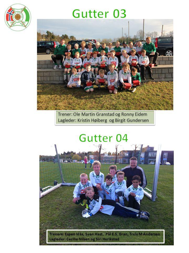 Gutter 03 Gutter 04 Trener: Ole Martin Granstad og Ronny Eidem