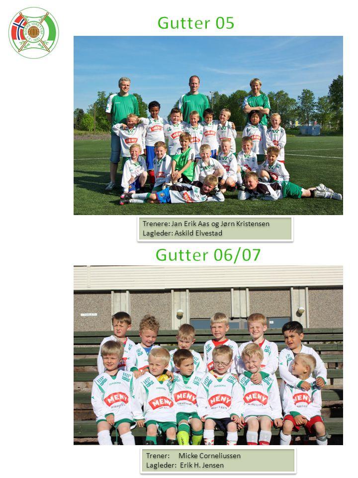 Gutter 05 Gutter 06/07 Trenere: Jan Erik Aas og Jørn Kristensen