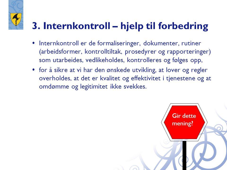 3. Internkontroll – hjelp til forbedring