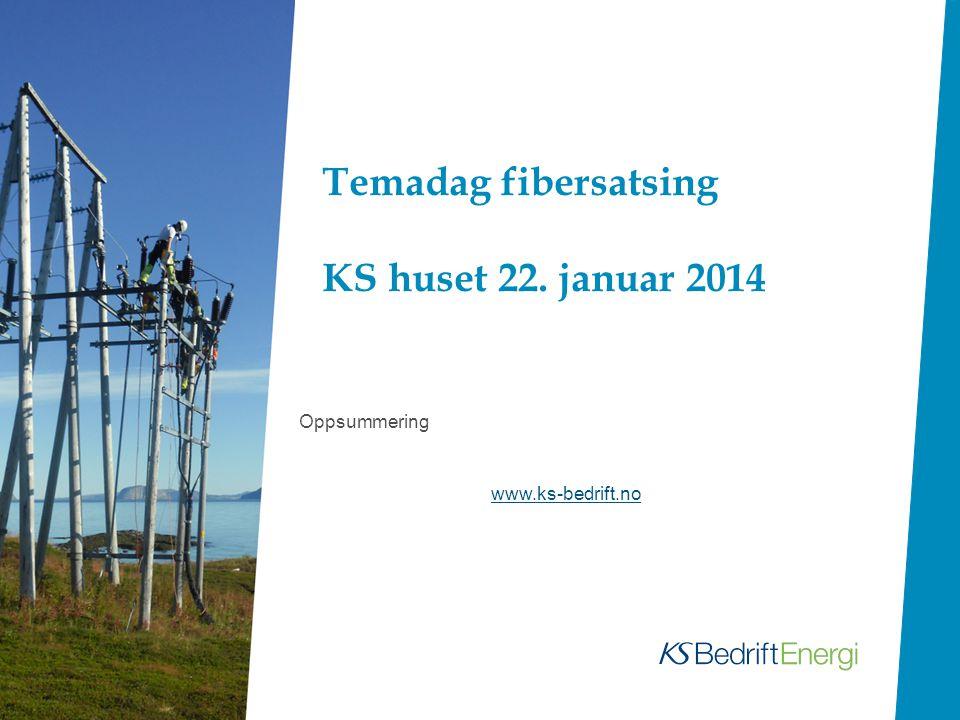 Temadag fibersatsing KS huset 22. januar 2014