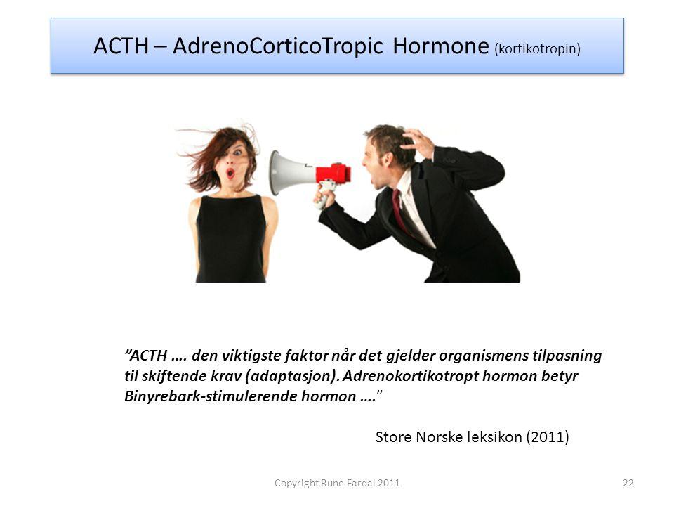 ACTH – AdrenoCorticoTropic Hormone (kortikotropin)