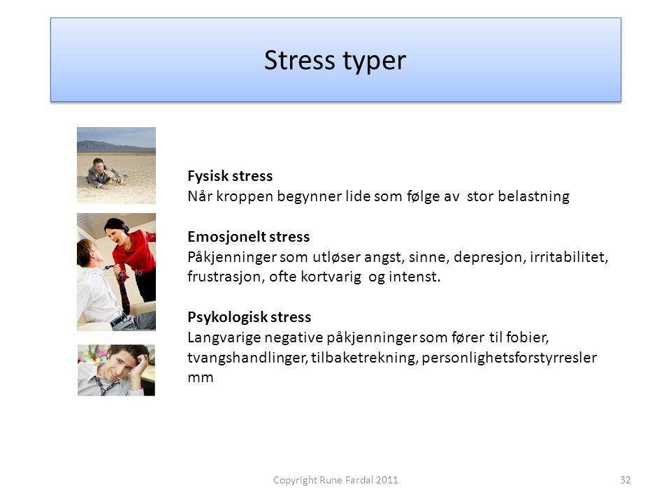 Stress typer Fysisk stress
