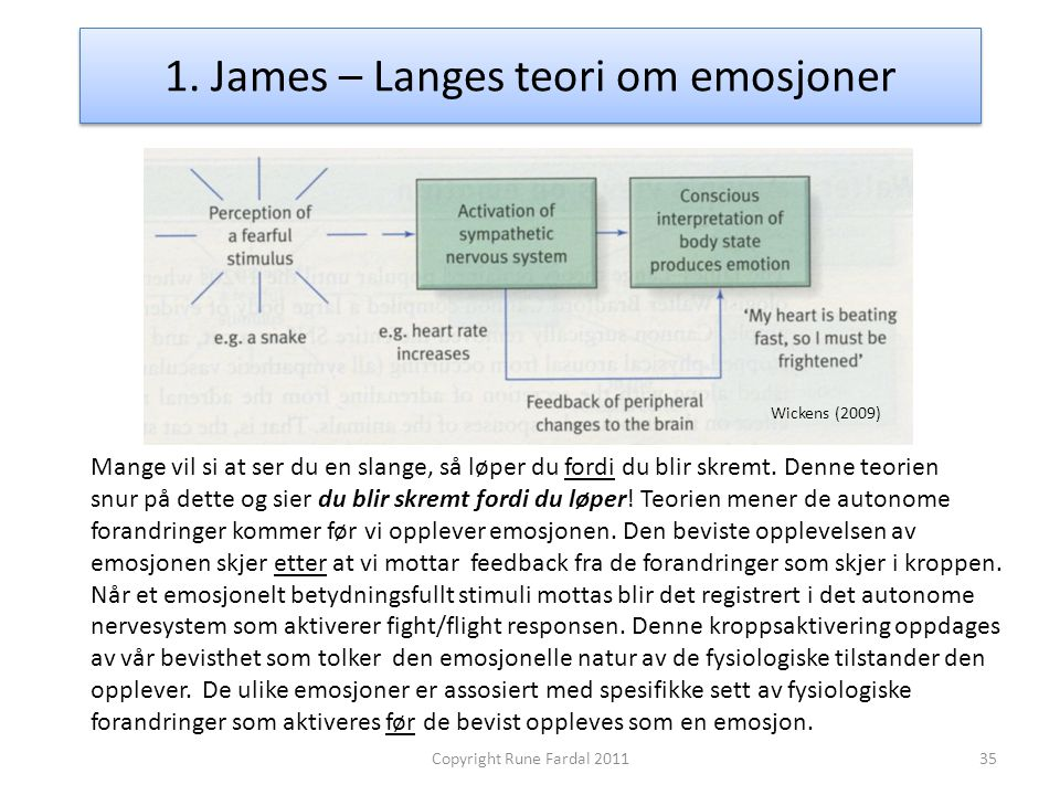 1. James – Langes teori om emosjoner