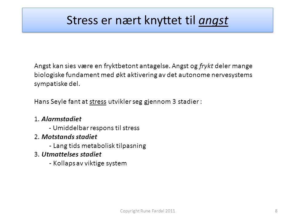 Stress er nært knyttet til angst