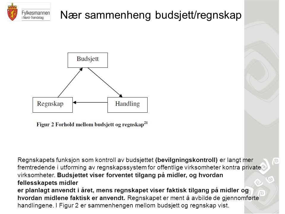 Nær sammenheng budsjett/regnskap