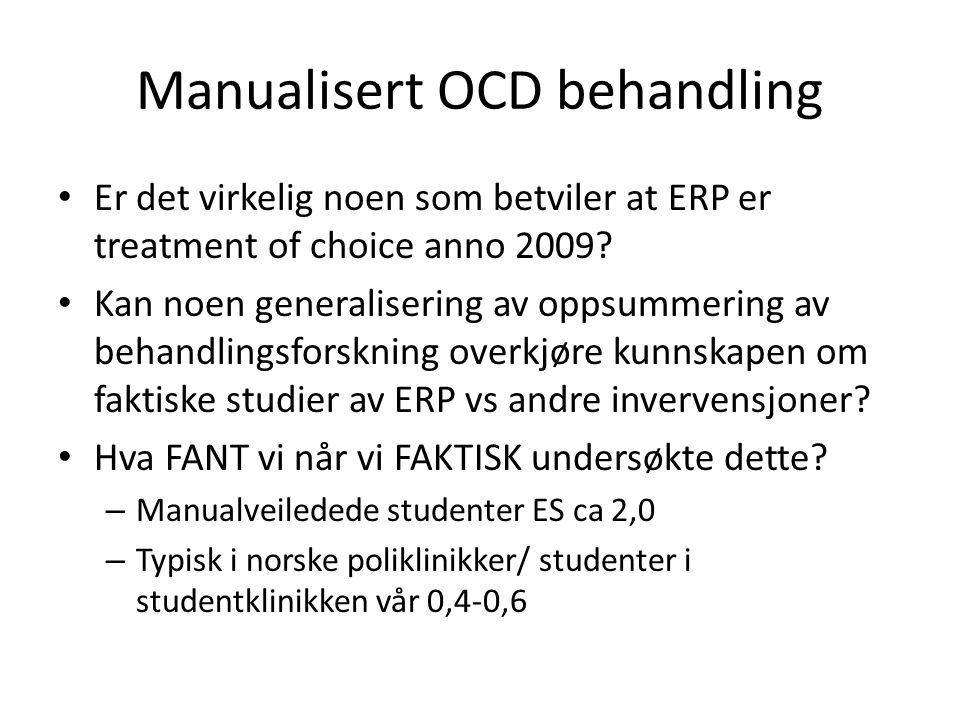 Manualisert OCD behandling