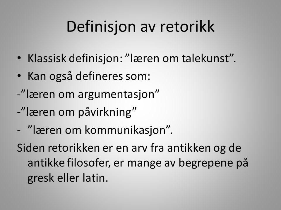 Definisjon av retorikk