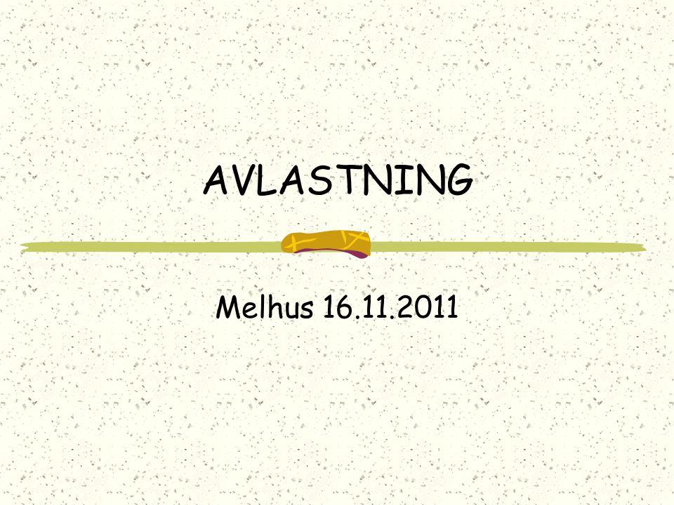 AVLASTNING Melhus 16.11.2011