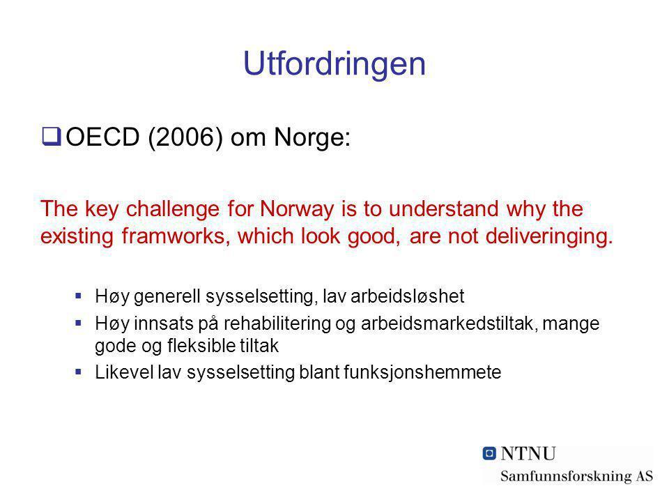 Utfordringen OECD (2006) om Norge: