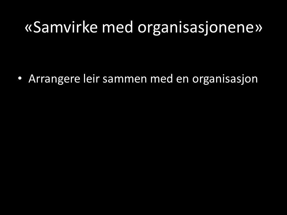 «Samvirke med organisasjonene»
