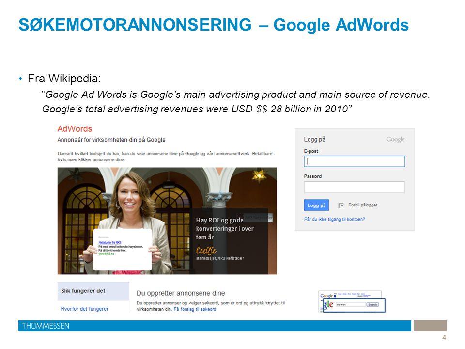 SØKEMOTORANNONSERING – Google AdWords