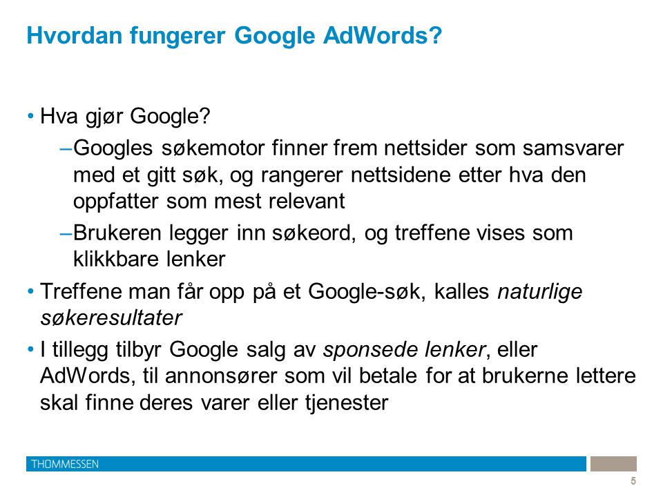 Hvordan fungerer Google AdWords