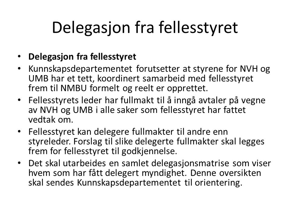 Delegasjon fra fellesstyret