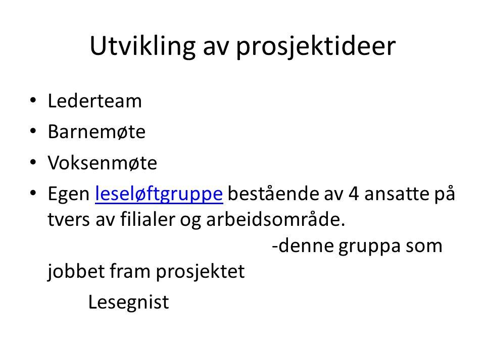 Utvikling av prosjektideer