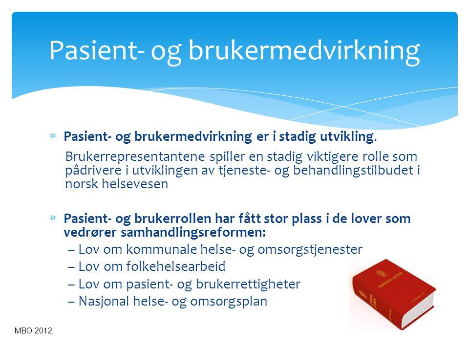 Pasient- og brukermedvirkning