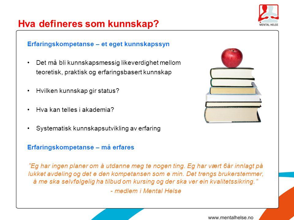 Hva defineres som kunnskap