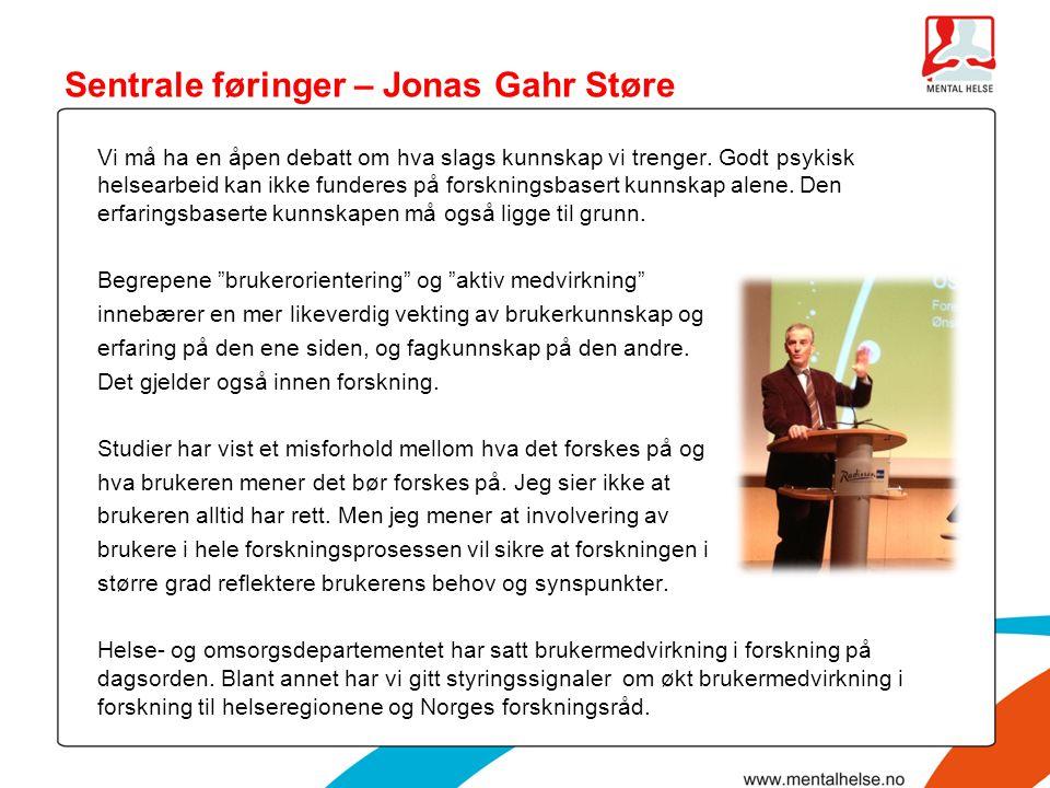 Sentrale føringer – Jonas Gahr Støre