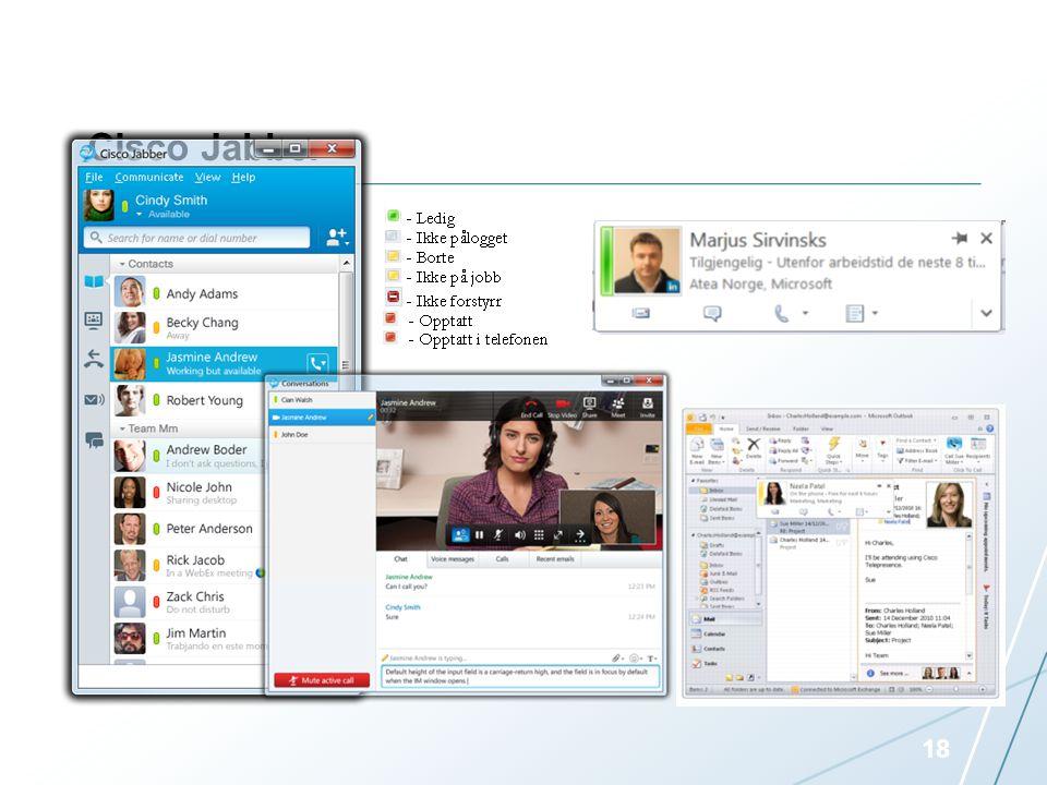 Cisco Jabber Personlig UC klient for 500 navngitte brukere.