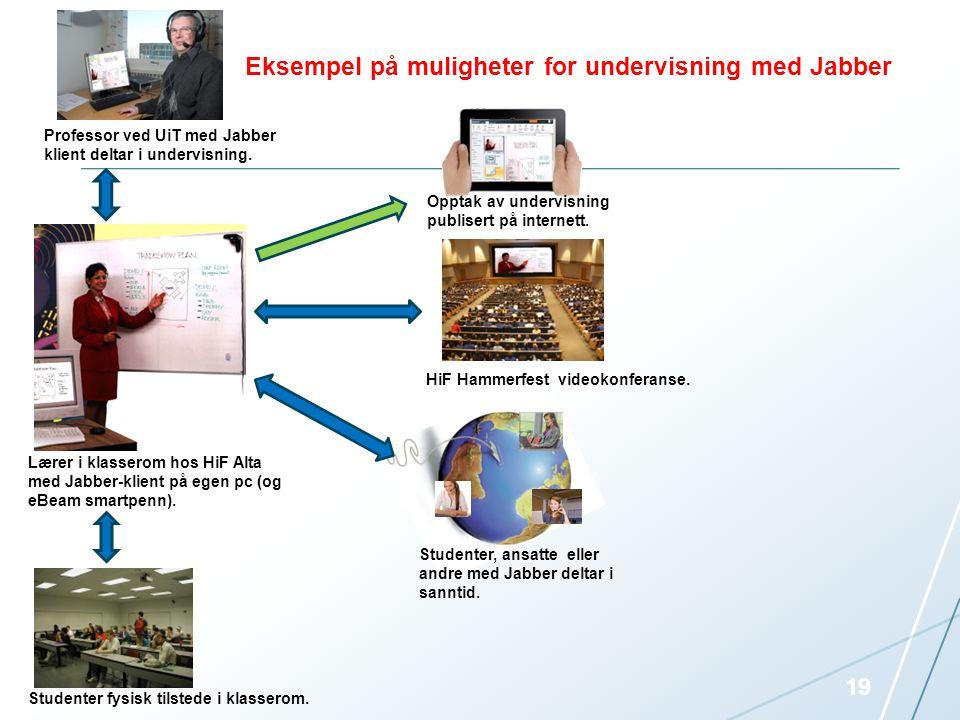 Eksempel på muligheter for undervisning med Jabber