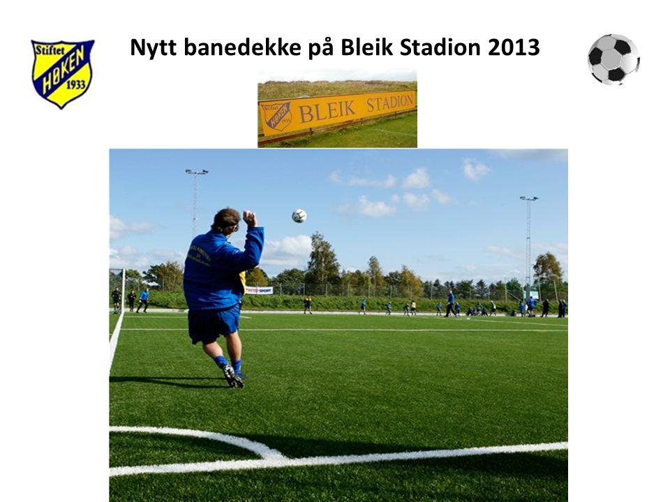 Nytt banedekke på Bleik Stadion 2013