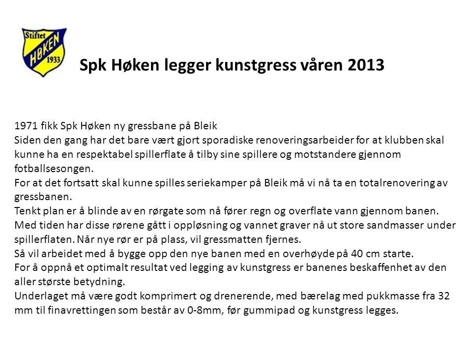 Spk Høken legger kunstgress våren 2013