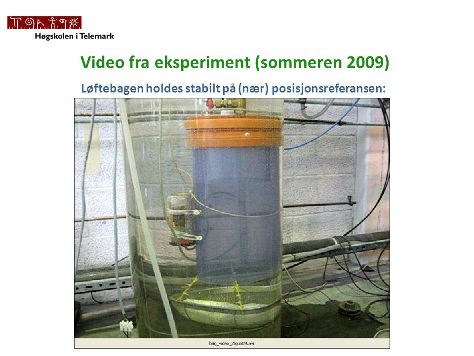 Video fra eksperiment (sommeren 2009)