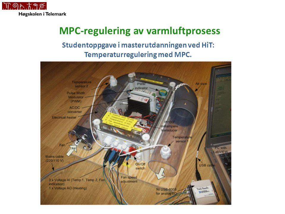 MPC-regulering av varmluftprosess