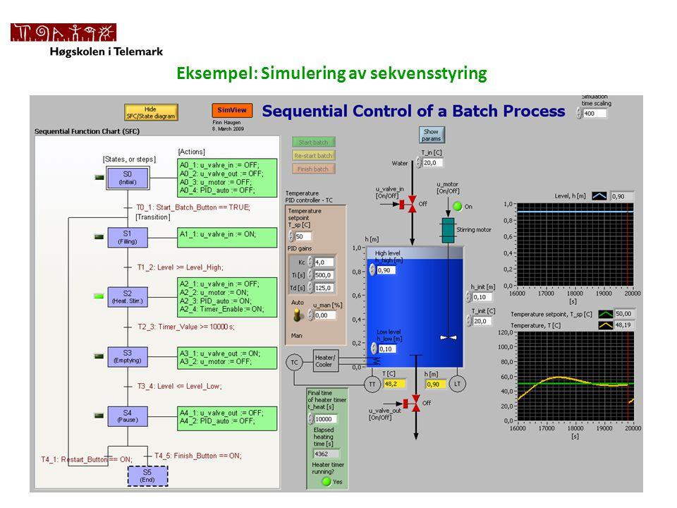Eksempel: Simulering av sekvensstyring