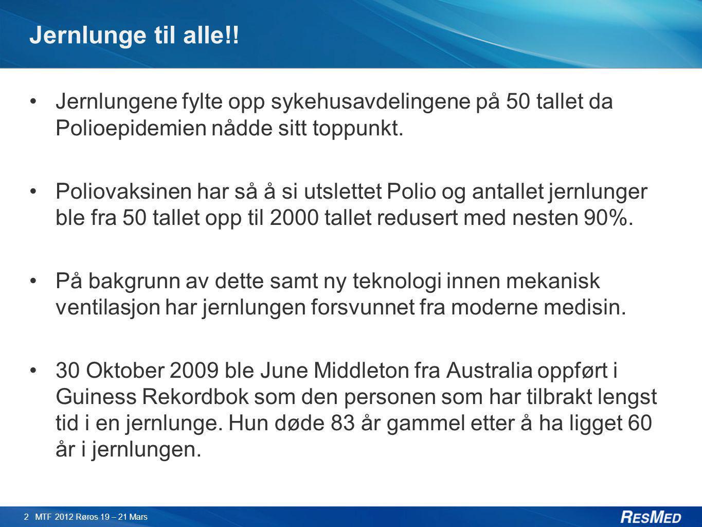 Jernlunge til alle!! Jernlungene fylte opp sykehusavdelingene på 50 tallet da Polioepidemien nådde sitt toppunkt.