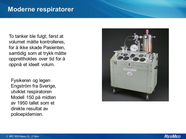 Moderne respiratorer