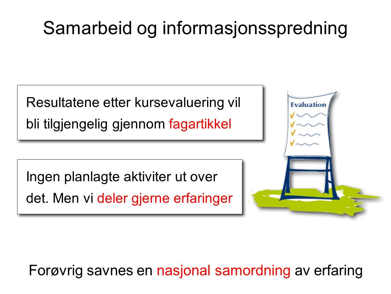 Samarbeid og informasjonsspredning