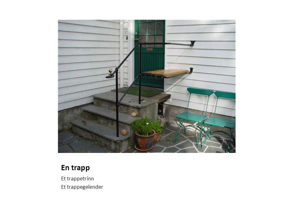 En trapp Et trappetrinn Et trappegelender