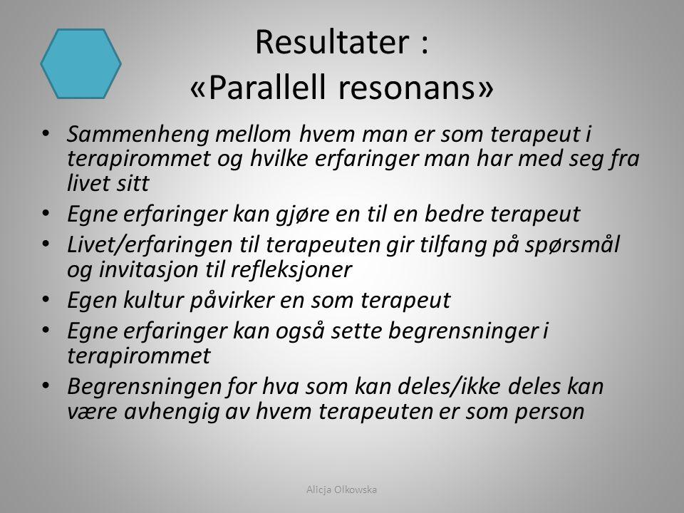 Resultater : «Parallell resonans»