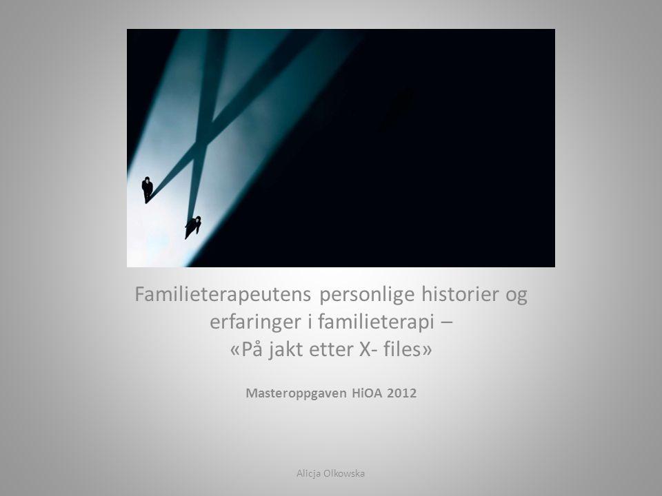 Familieterapeutens personlige historier og