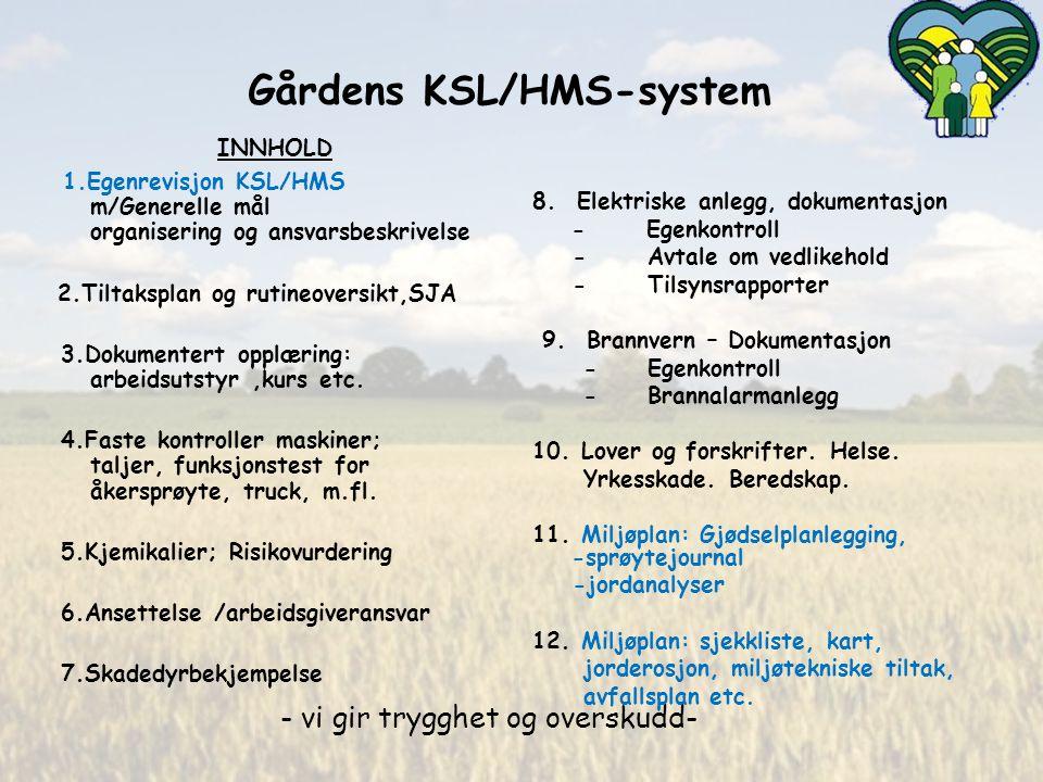 Gårdens KSL/HMS-system