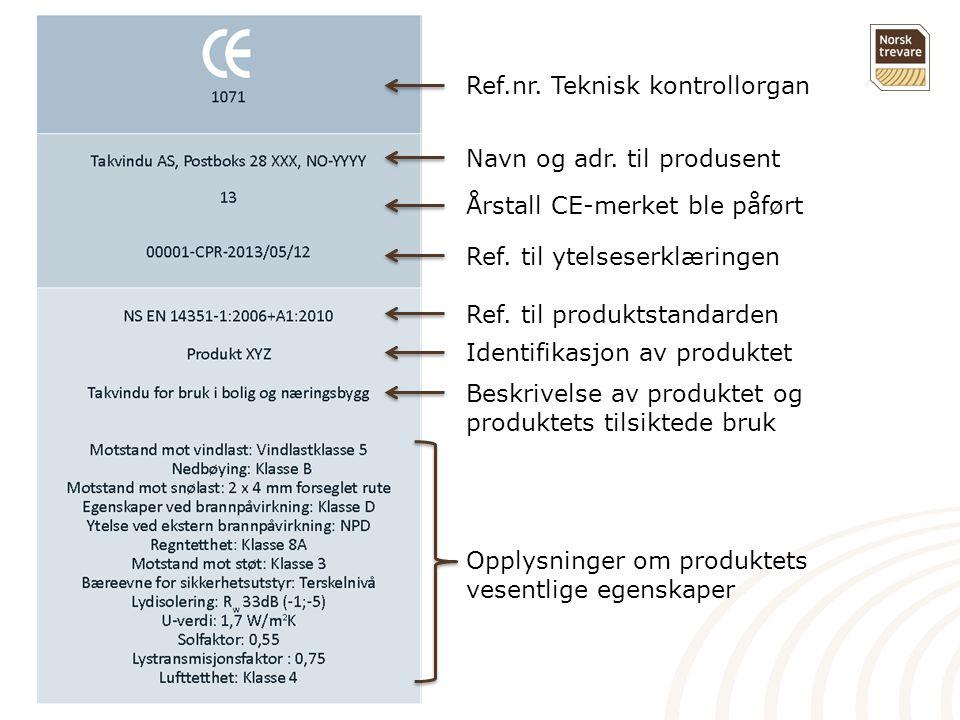 Ref.nr. Teknisk kontrollorgan