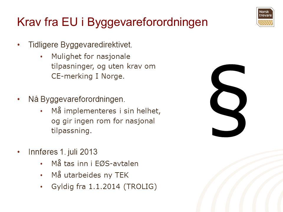 Krav fra EU i Byggevareforordningen