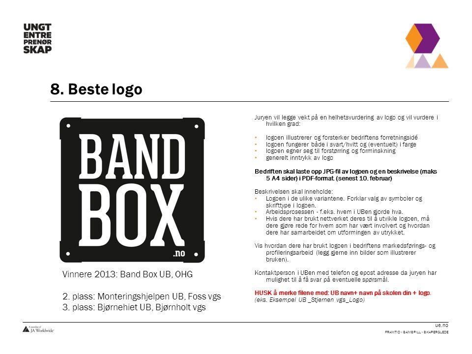 8. Beste logo Vinnere 2013: Band Box UB, OHG