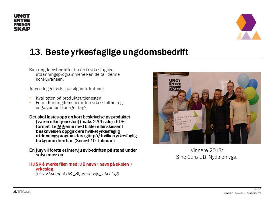 13. Beste yrkesfaglige ungdomsbedrift